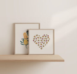 Banksia Print and Lady Bee Heart Print